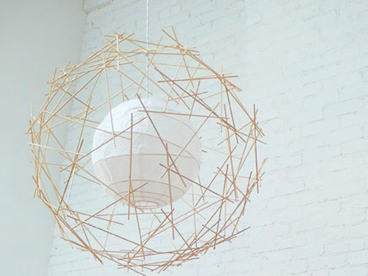 Victor Vetterlein, Study of Life, orb, bamboo, paper, biodegradable, sustainable design, green design, green lighting, renewable materials, green materials