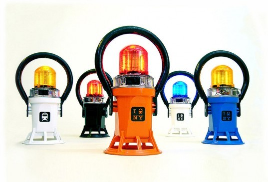 subway lanterns, led lamps, led subway lanterns, nyc subway lamps, nyc subway lights, 718 made in brooklyn, jef mayer, voos furniture