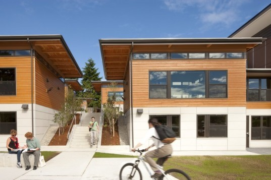 Bastyr University Student Village, CollinsWoerman, Student housing, butterfly roof, green design, sustainable architecture