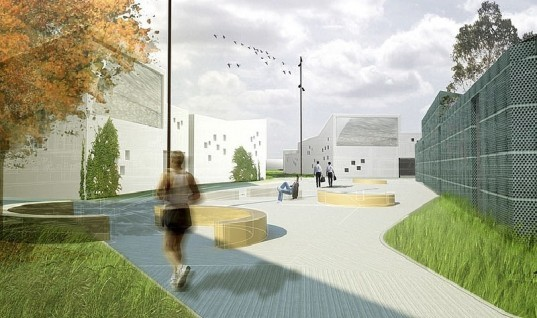 prison, C. F. Møller, animal husbandry, denmark, green design, socially conscious design, design for health