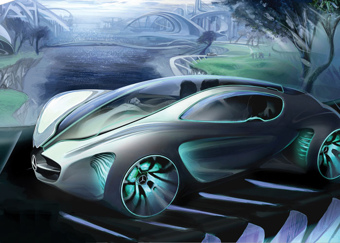 green vehicles, green automobiles, green car of the future, green concept car, environmental vehicles, concept cars, gas free vehicles, petroleum free vehicles, mercedes benz concept car, biome, la auto show, la auto show design challenge