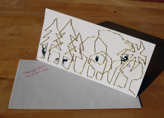 forests, greeting cards, international year of forests, Recycled Materials, recycled paper, recycling, Trees, vegetable ink