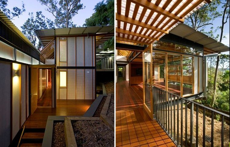 Hilltop house sits high on stilts in australian spotted for Hilltop house designs