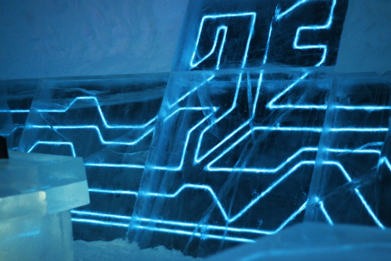 tron, icehotel, sweden, el wire, energy efficient lighting, legacy of the river, green lighting