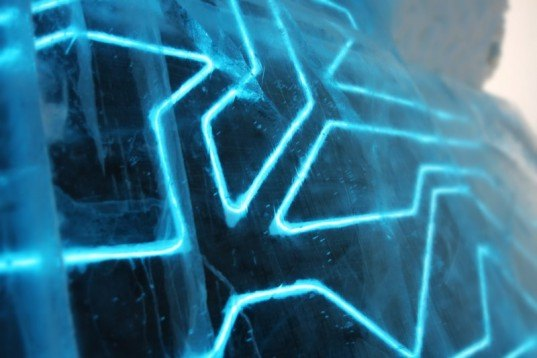 Electrified Tron Ice Hotel Suite Opens In Sweden