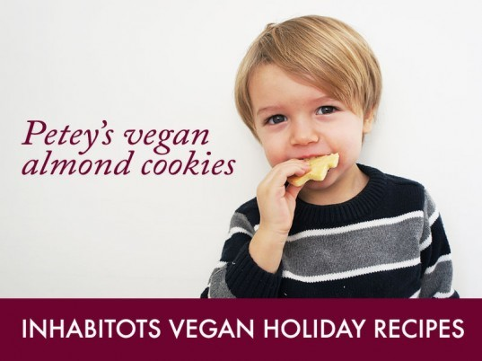 Petey's organic vegan almond christmas cookies, vegan christmas cookie recipe, vegan cookies recipe, vegan almond cooki