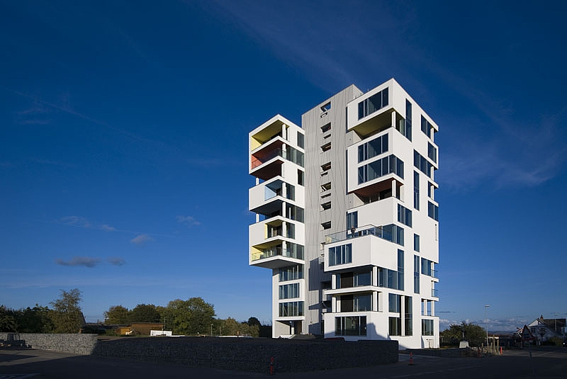 Old Silo Transformed Into Rural High Rise In Denmark