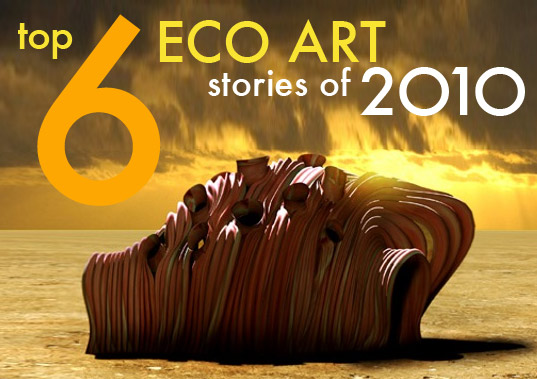 2010 art, top 6 art posts 2010, top art stories 2010, art new 2010, best art stories of 2010, best art 0f 2010, eco art, green art, recycled materials, recycled art, world's most expensive oil painting, book cell, in vitro habitat, house made of meat, fishbowl faucet, pencil sculptures