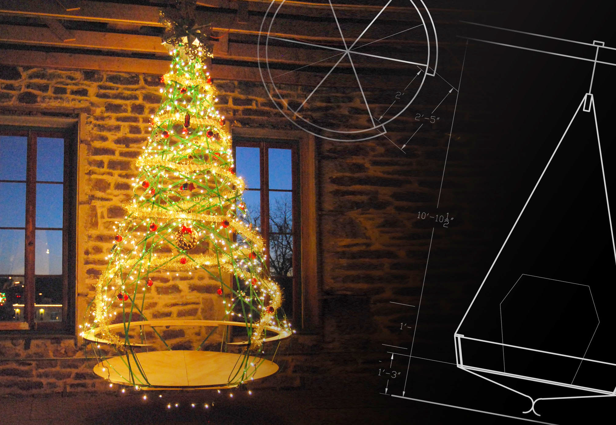 Inhabitable Christmas Tree Created From Recycled Materials