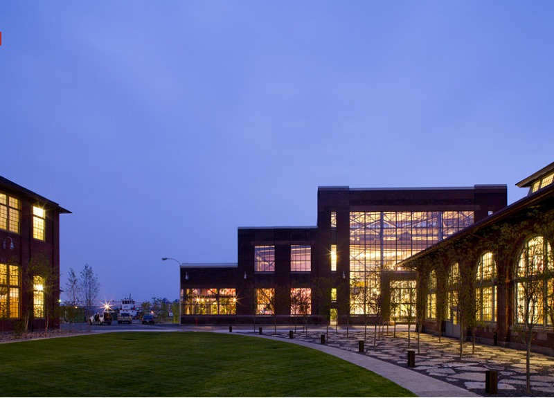 Urban Outfitters Headquarters, Meyer Scherer & Rockcastle, green renovation, adaptive reuse, green design, sustainable architecture