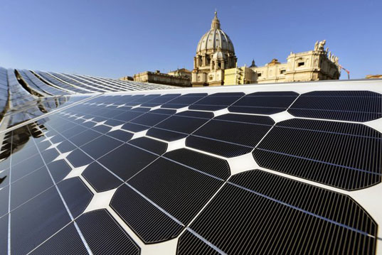 Osservatore Romano vatican solar power, green pope, vatican city green state, vatican city solar power, vatican city 100MW, vatican renewable energy, electric pope mobile, pope electric vehicle, solar power vatican city