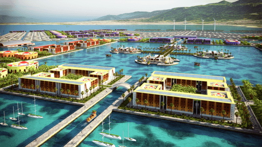 harvest city, haiti, green architecture, green design, agricultural city, eco architecture, floating city, rebuilding haiti, E. Kevin Schopfer, tangram3ds, arcology, floating home, eco design