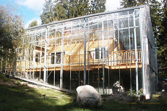 For All Intents And Purposes, The Naturhus Is A Typical Home U2013 Except For  The Extra Glass Layer Surrounding It. Inside The Greenhouse, The Owners Can  Grow ...