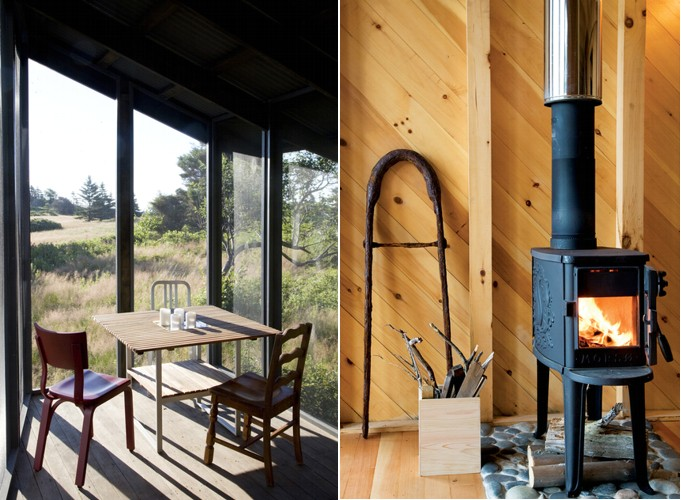 Tiny off grid cabin in maine is completely self sustaining for Self sufficient cabin kits