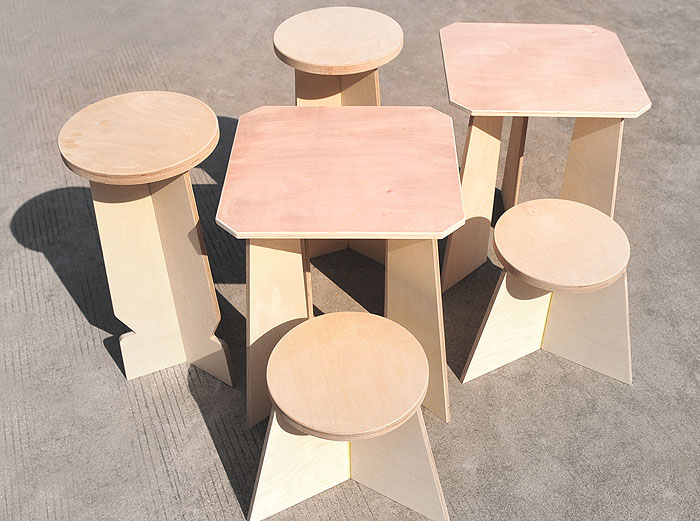 byproducts transforms waste wood offcuts into flat pack furniture inhabitat green design. Black Bedroom Furniture Sets. Home Design Ideas