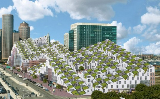 boston fusion, green roof, mixed use development, bayarch, green roofed apartment building, green building