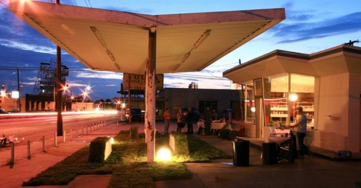 Route 66 gas station transformed into architecture office for Architecture firm for sale
