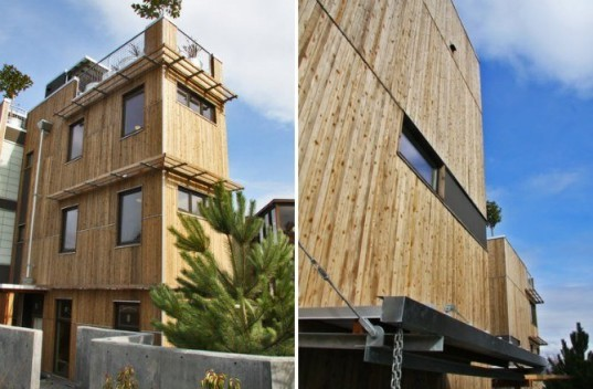 footprint at the bridge, johnston architects, eco residences, seattle, green building, rainwater collection