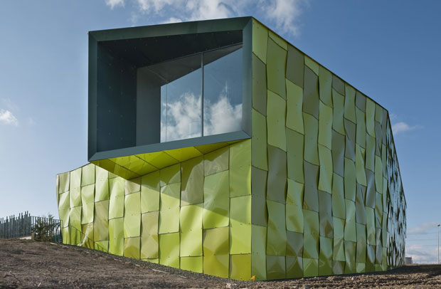 Lime Green Garbage Collection Center Is A Recycled