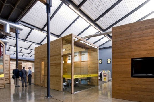 lance armstrong foundation, lake flato architects, austin, texas, green renovation, eco office, sustainable architecture