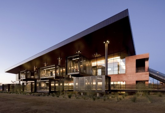 Paradise Valley Community College, Life Science Building, marlene imirzian and associates, phoenix, big roof, desert architecture, sustainable architecture