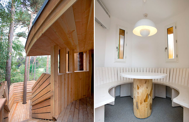 Sustainable architecture, De Kliuw, Kaban, Renaud Morel, Dans mon arbre, Weddings, Treehouse, Kapellerput, The Netherlands, green design