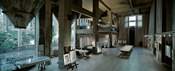 Cement Factory, Architecture, Ricardo Bofill, Barcelona, repurposed architecture, repurposed factory, green renovation, sustainable design, green design, green building