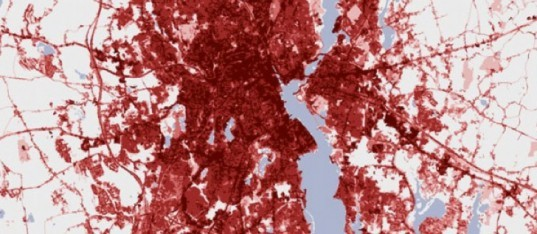 The Urban Heat Island Affect, Providence, Rhode Island, Nasa Images, global warming, green design, sustainable design, satellite image