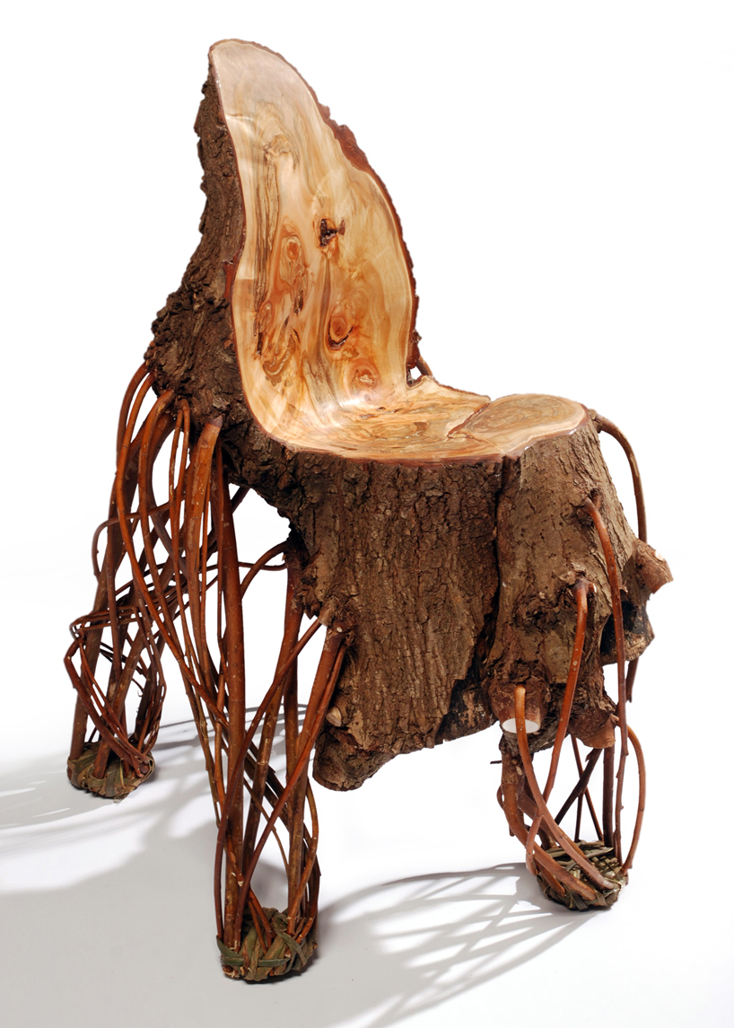 Upside Down Chair Is Just As Much Sitting Fun As A Real Tree Trunk