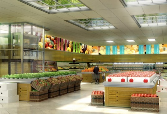 Better Food Solutions, sustainable design, green design, sustainable agriculture, green supermarket, greenhouse, urban agriculture, urban farm, hydroponic rooftop greenhouse