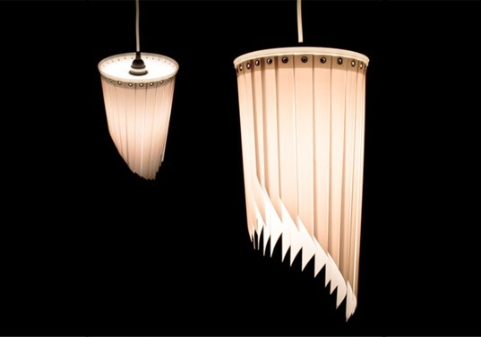 blindshine, venetian blinds, recycled materials, green design, eco design, green lighting, lamp made from venetian blinds, green lamp, eco lamp, sustainable lighting