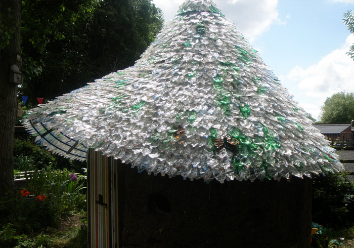 Volunteers Recycle 7000 Plastic Bottles Into A Colorful