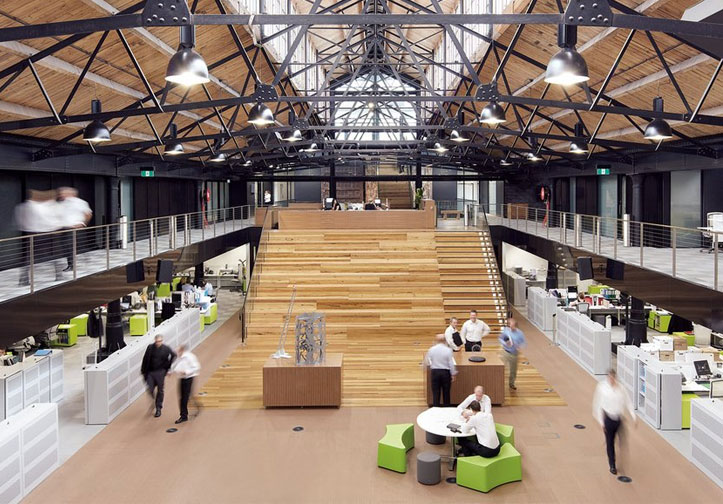 Historic Goods Shed Revamped Into A Vibrant Warehouse