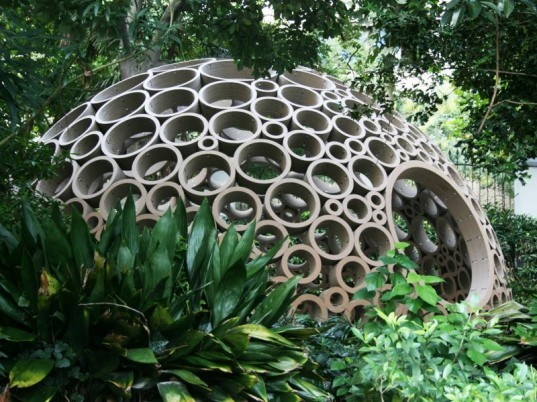 packed pavilion, sustainable design, green design, min-chieh chen, dominik zausinger, michele leidi, green architecture, cardboard pavilion, circular cardboard igloo, CAD cardboard structure