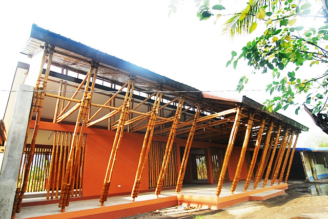 First Full Bamboo School In Philippines Built Camarines Sur