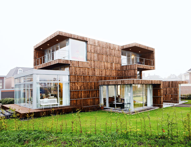 Modern Dutch House Built From Salvaged