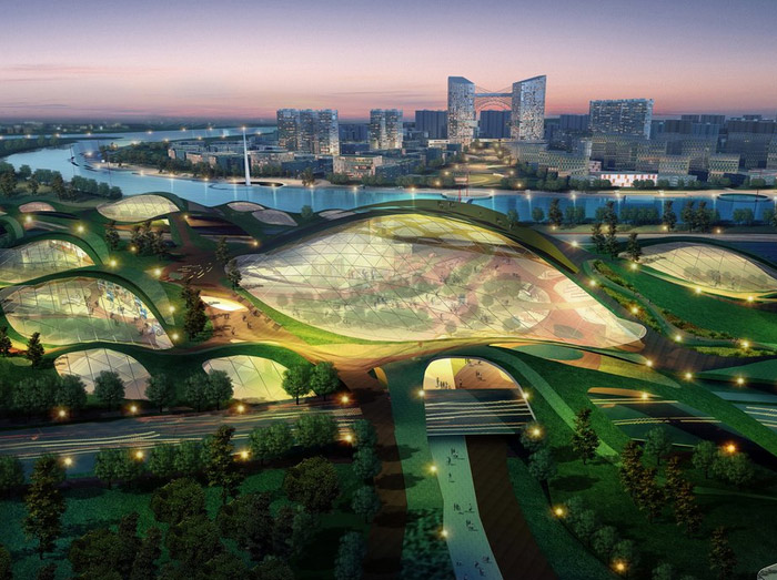 Tianjin Eco City Is A Futuristic Green Landscape For 350000