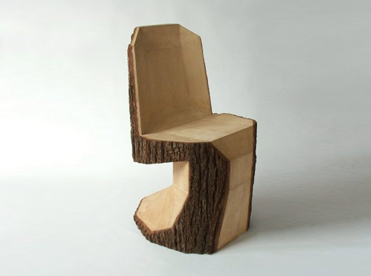 peter jakubik, panton, panton chair, green design, eco design, tree trunk chair, tree trunk furniture, wood panton chair, arbor chair, diy chair, green furniture, green design, green products, sustainable design