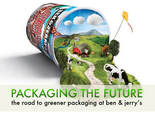 ben & jerry's ice cream, green packaging, packaging the future, sustainable design, green design, low-impace packaging, sustainable product, eco packaging design