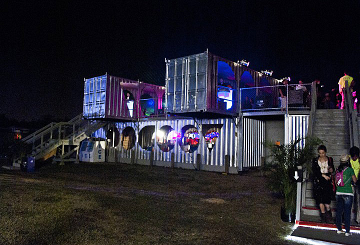 Voodoo Music Festival Vip Lounge Made Of Shipping