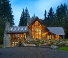 Cedar Haven is a Forest Retreat Made with Reclaimed Logs