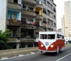 Projecto Kombi: People-Powered Cardboard Flintstone Van Hits the Streets of São Paulo