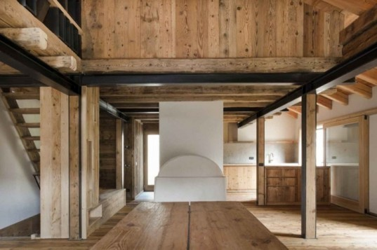 eco renovation, barn renovation, UNESCO world heritage site, EXiT architetti associati, restored barn, solar electric historic roof, green building, Italian Green building, historic green building,historic preservation,historic barn renovation,