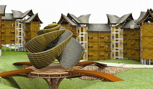 DAtE, design against the elements, disaster proof design, eco community, bamboo housing