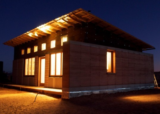 design build bluff, windcatcher house, rammed earth, off grid, university of colorado denver, navajo nation, student project
