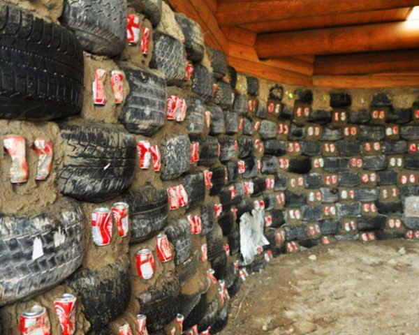 Enjoyable This Incredible Home Is Made From Old Tires And Pop Cans Interior Design Ideas Philsoteloinfo
