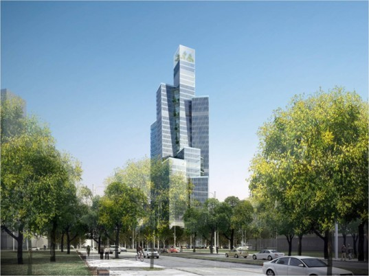 Kevin Kennon Architects, Shanghai Ginsun, kevin kennon , Eco-City, Tianjin, bamboo tower, green energy, c