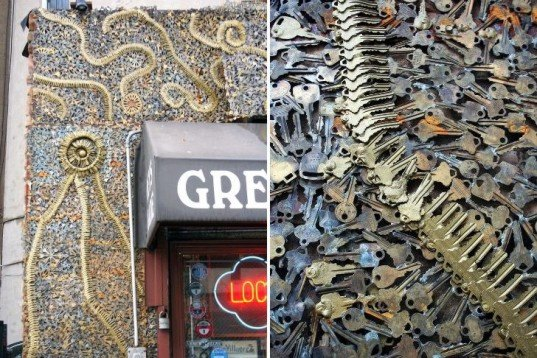 How Much Is A Locksmith >> Greenwich Locksmiths Renovates Shop Facade With Thousands Of Keys   Inhabitat - Green Design ...
