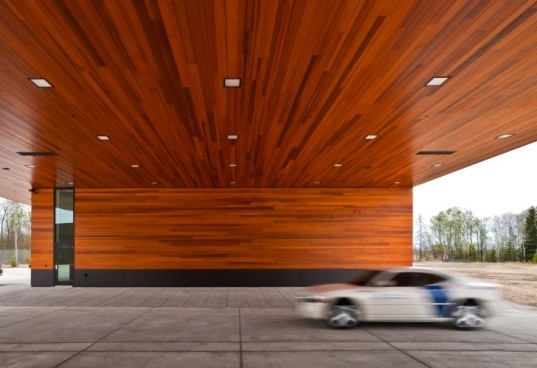 Minnesota, Port of Entry, warroad, julie snow architects, green building, sustainably harvested wood
