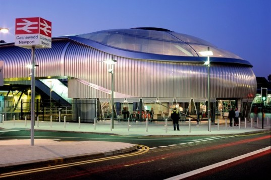newport station, rail station, train station, grimshaw architects, ETFE, energy efficient building